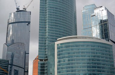 MOSCOW. RUSSIA - MAY 23.2015. The Moscow International Business Center. MIBC is one of  largest construction projects in Europe