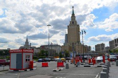 MOSCOW, RUSSIA - 17.06.2015. Free Parking near Kazansky railway station