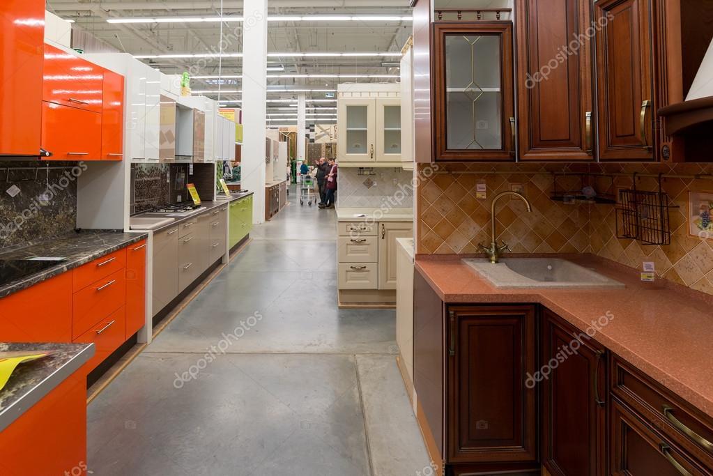 moscou russie 15 f vrier 2015 la cuisine leroy merlin. Black Bedroom Furniture Sets. Home Design Ideas