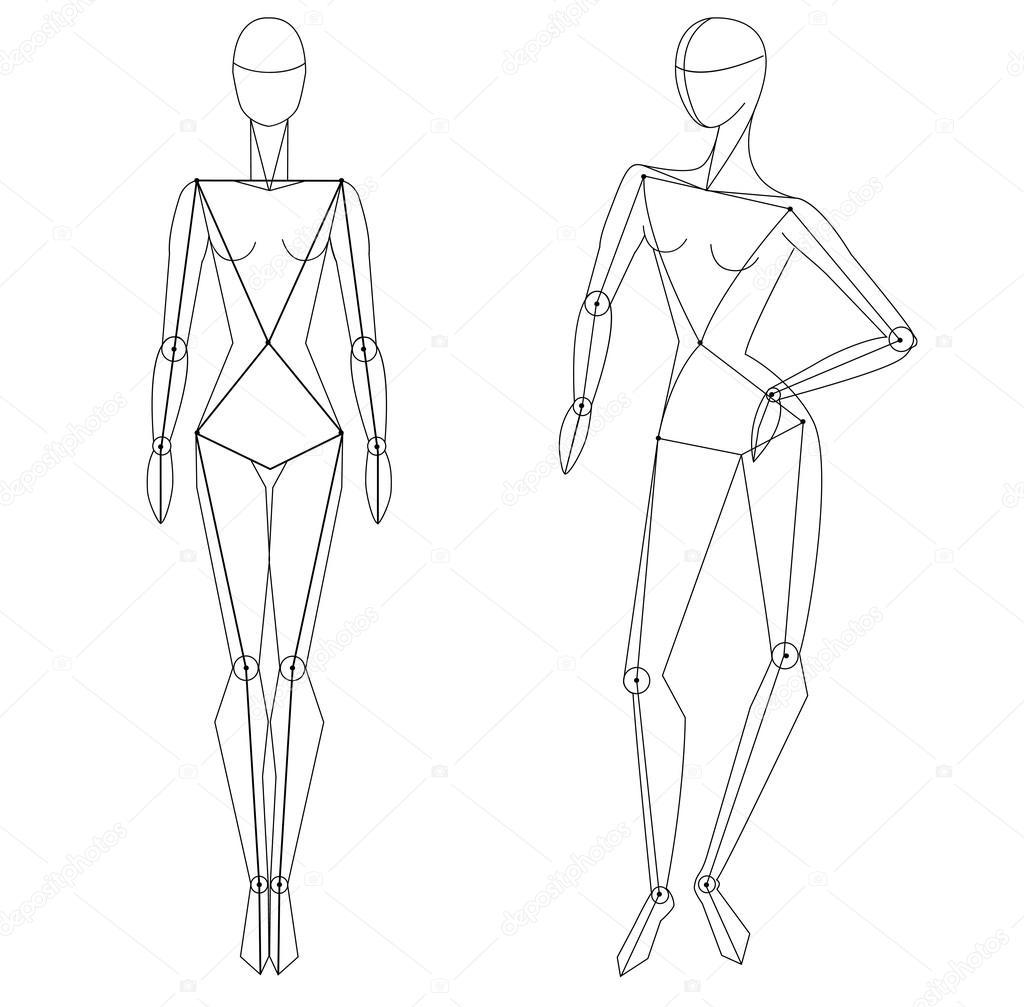 Athletic Fashion Design Model Template
