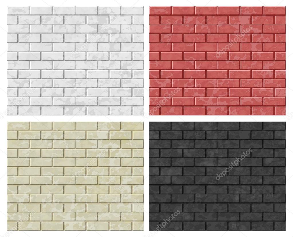 Vector patrones sin fisuras de las paredes de ladrillo - Pared ladrillo blanco ...