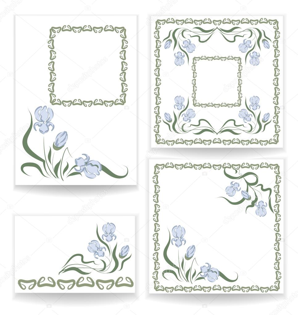 designs with blue iris