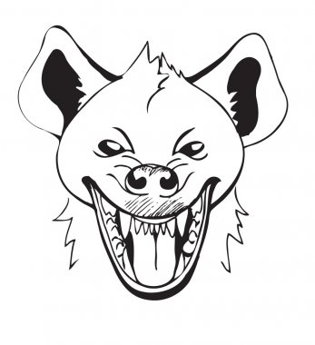 head laughing hyenas