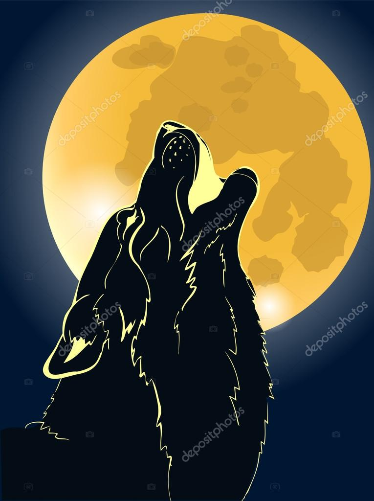 lobo aullando a la luna vector de stock  u00a9 minyanna 93254002 wolf vector ai wolf vector art free