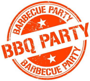 Bbq party stamp