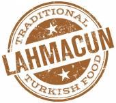 Photo Turkish food lahmacun stamp