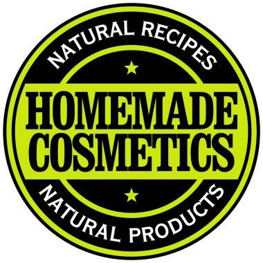 Homemade cosmetics label