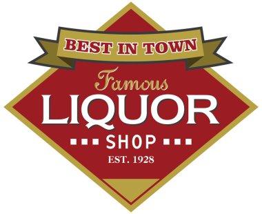Liquor shop label