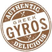 Fotografie Řecký gyros razítko