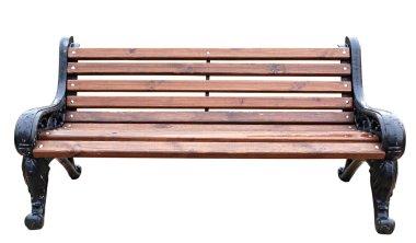 garden bench isolated white  background .