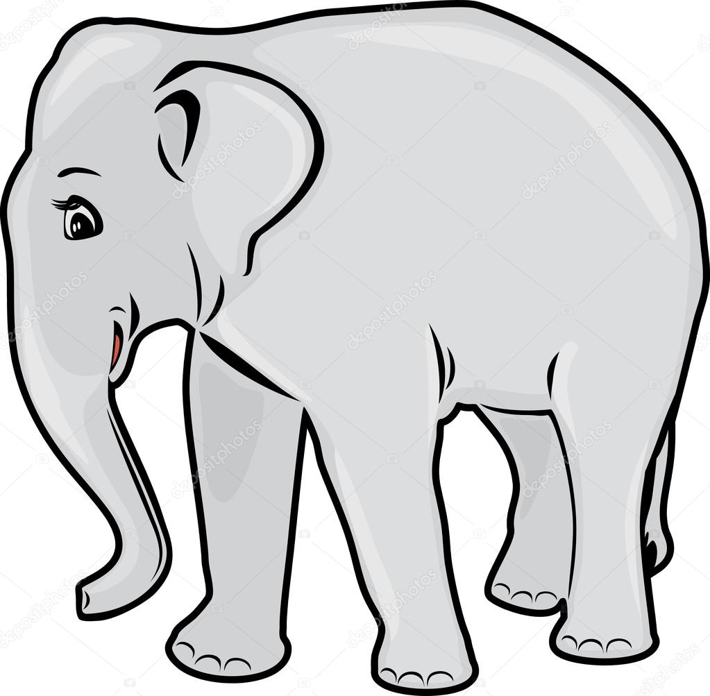 Olifant omtrek tekenen stockvector teddy2007b 114852634 - Elephant image dessin ...