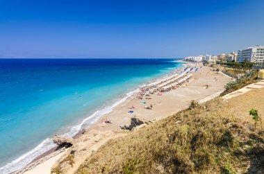 Beautiful sandy Rhodes beach