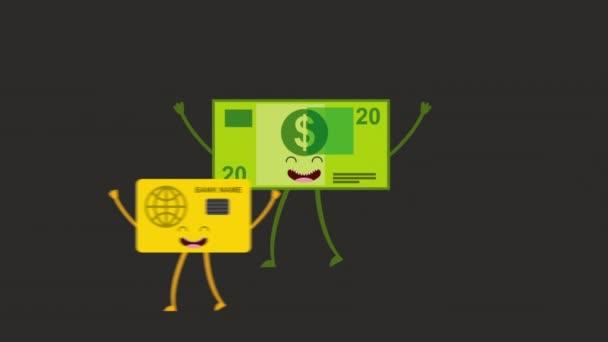 Animované podnikání ikonu design, Video animace