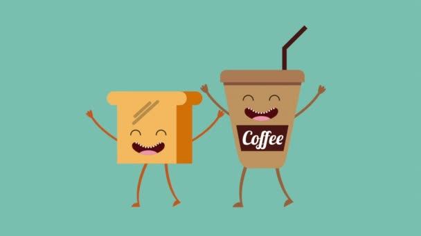 Animované snídaně ikonu design, Video animace