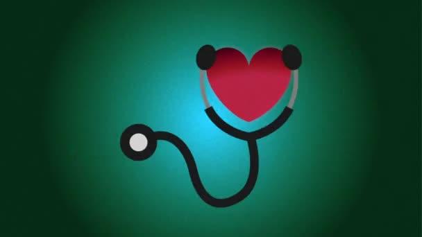 Zdravotní péče ikonu design, Video animace