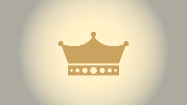 crown icon design, Video Animation