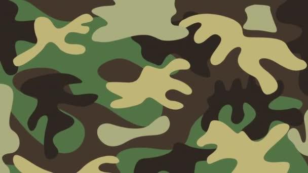 Vojenský kamuflážní design, video animace