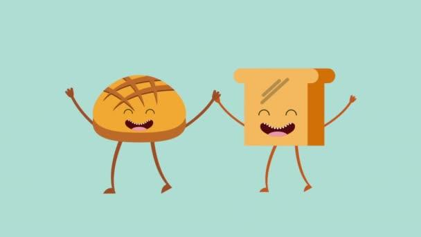 Animované chléb ikonu design, Video animace