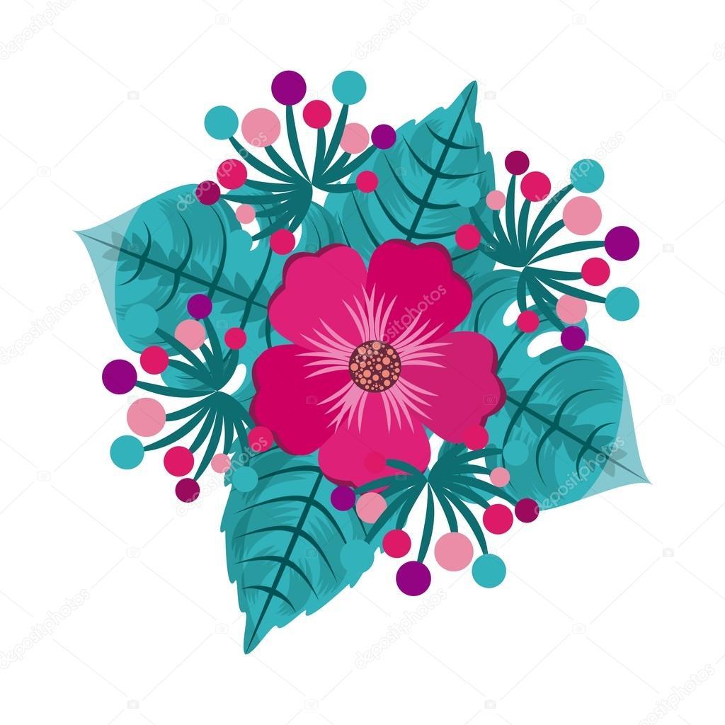 Folha De Desenho De Lindas Flores Vetores De Stock