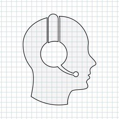 customer service icon  design