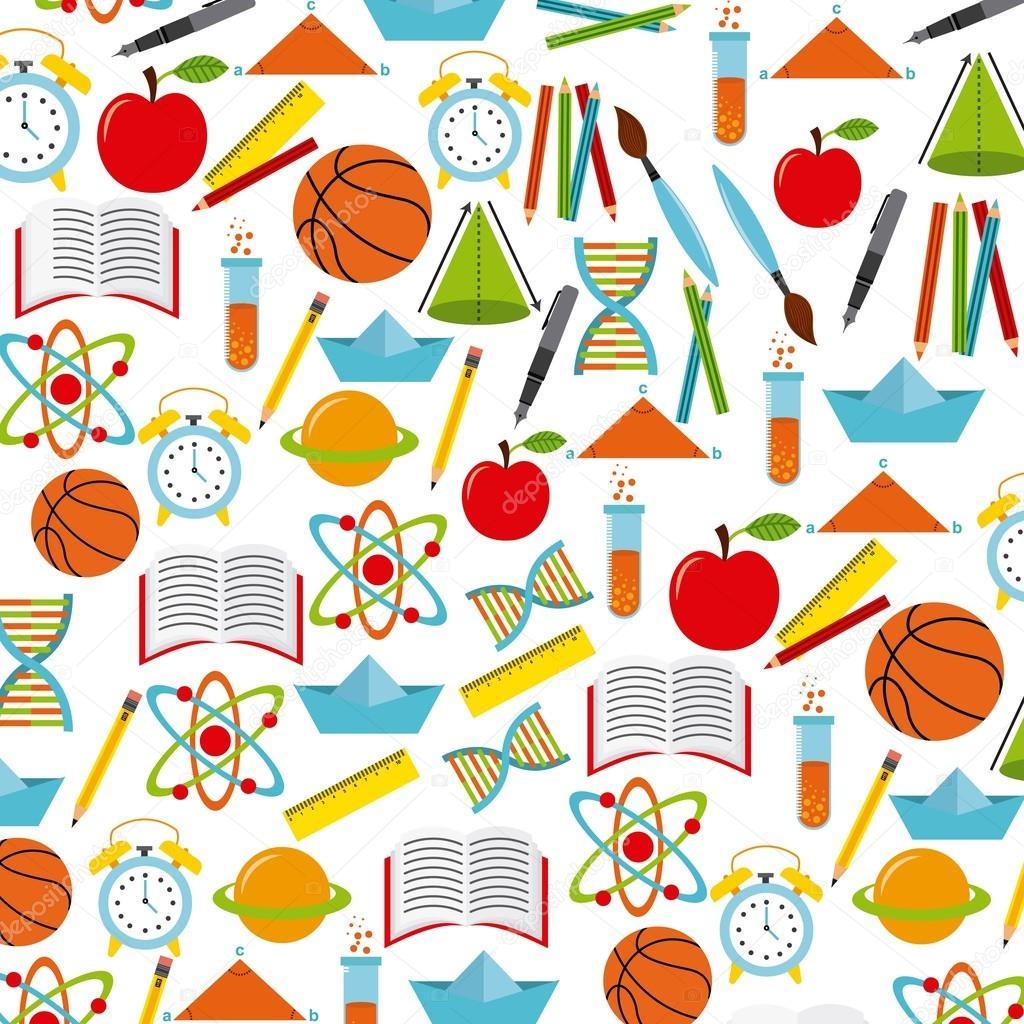 Desenho De Material Escolar Colorido Diseno De Utiles Escolares