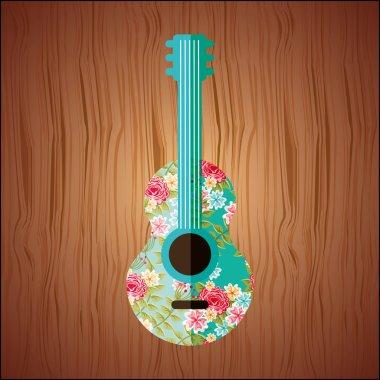 floral guitar design