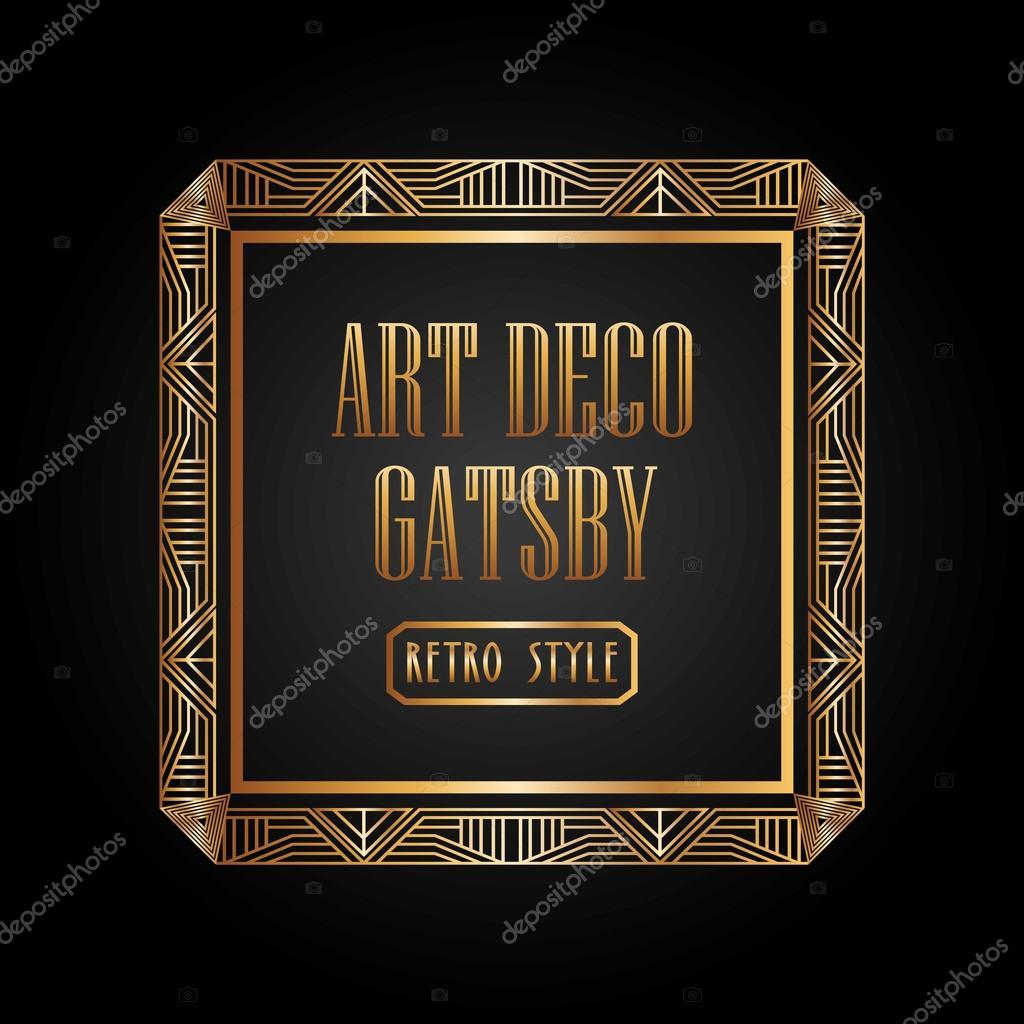art deco element gatsby design stock vector yupiramos 105418304. Black Bedroom Furniture Sets. Home Design Ideas