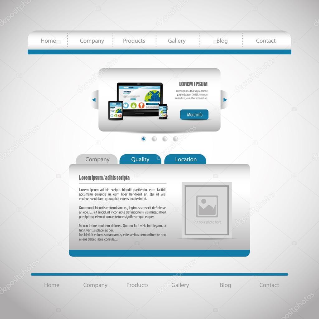Website-Gestaltung-Vorlage-design — Stockvektor © yupiramos #105419250