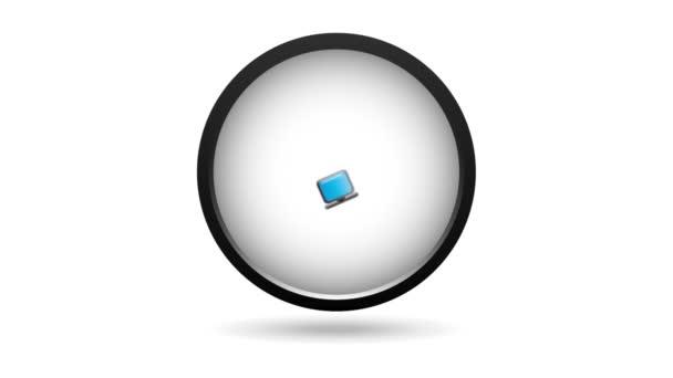 Počítač ikony designu