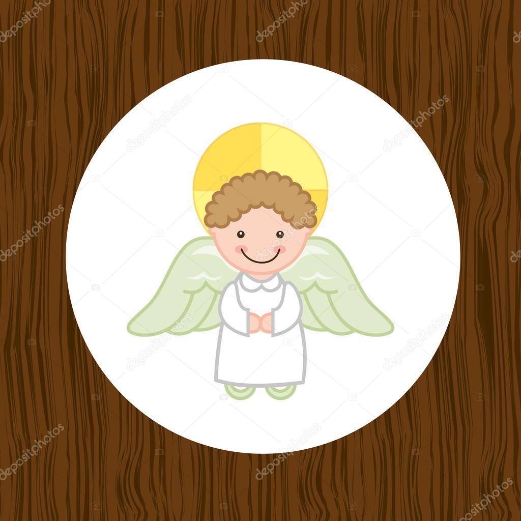 Süße Engel Entwerfen Stockvektor Yupiramos 106131704