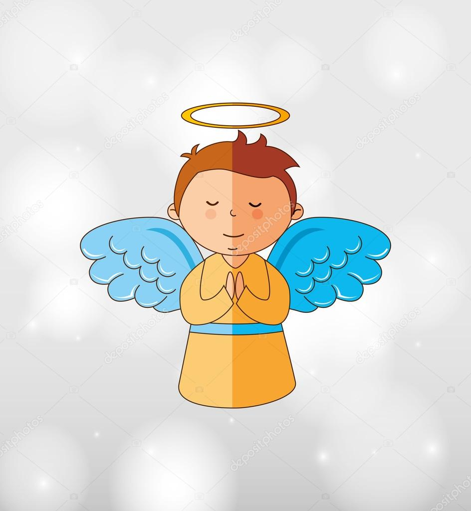 Süße Engel Entwerfen Stockvektor Yupiramos 106132312