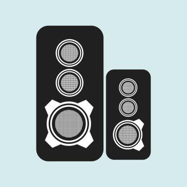 speakers columns isolated design