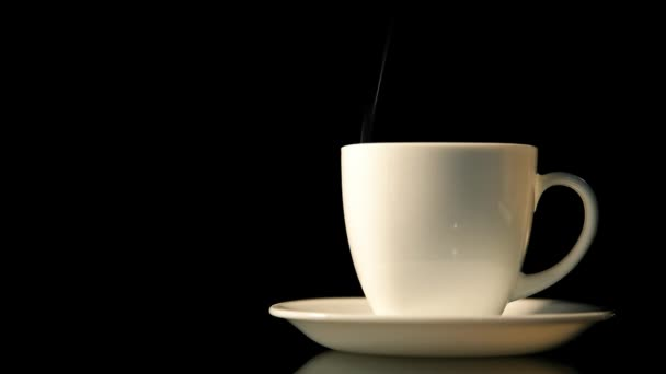 Hot coffee cup with smoke