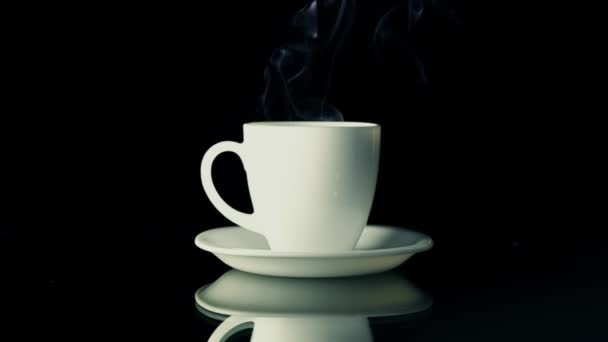 Hot beverage with smoke