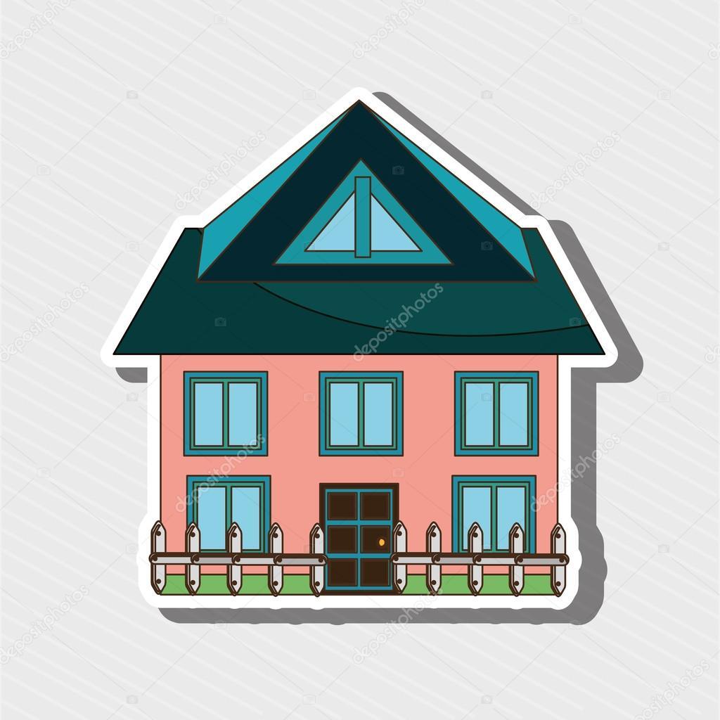schönes Haus-Exterieur-design — Stockvektor © yupiramos #108573086