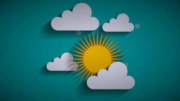 Eső ég a nap és a felhők, Video Animation