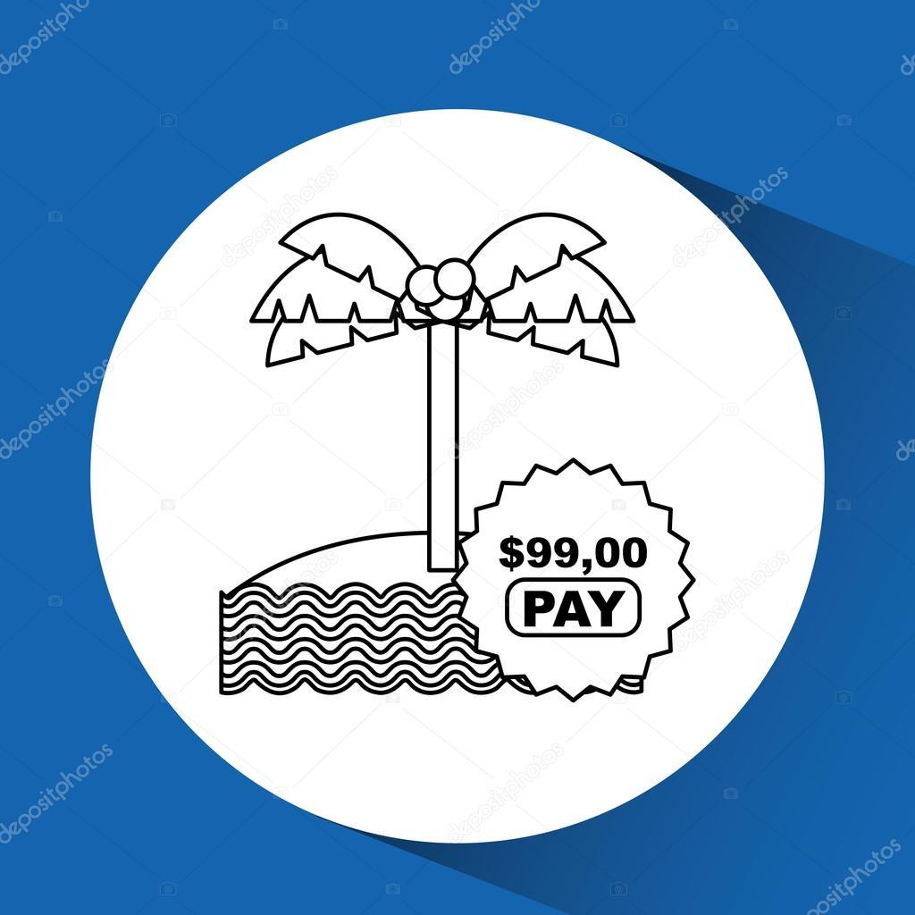 Reise-Kosten-Gestaltung — Stockvektor © yupiramos #108679840