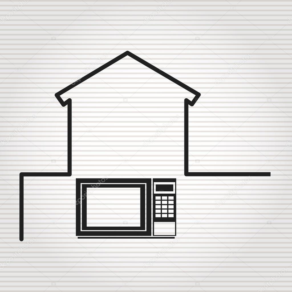 Conception de la maison intelligente image vectorielle for Www conception de la maison