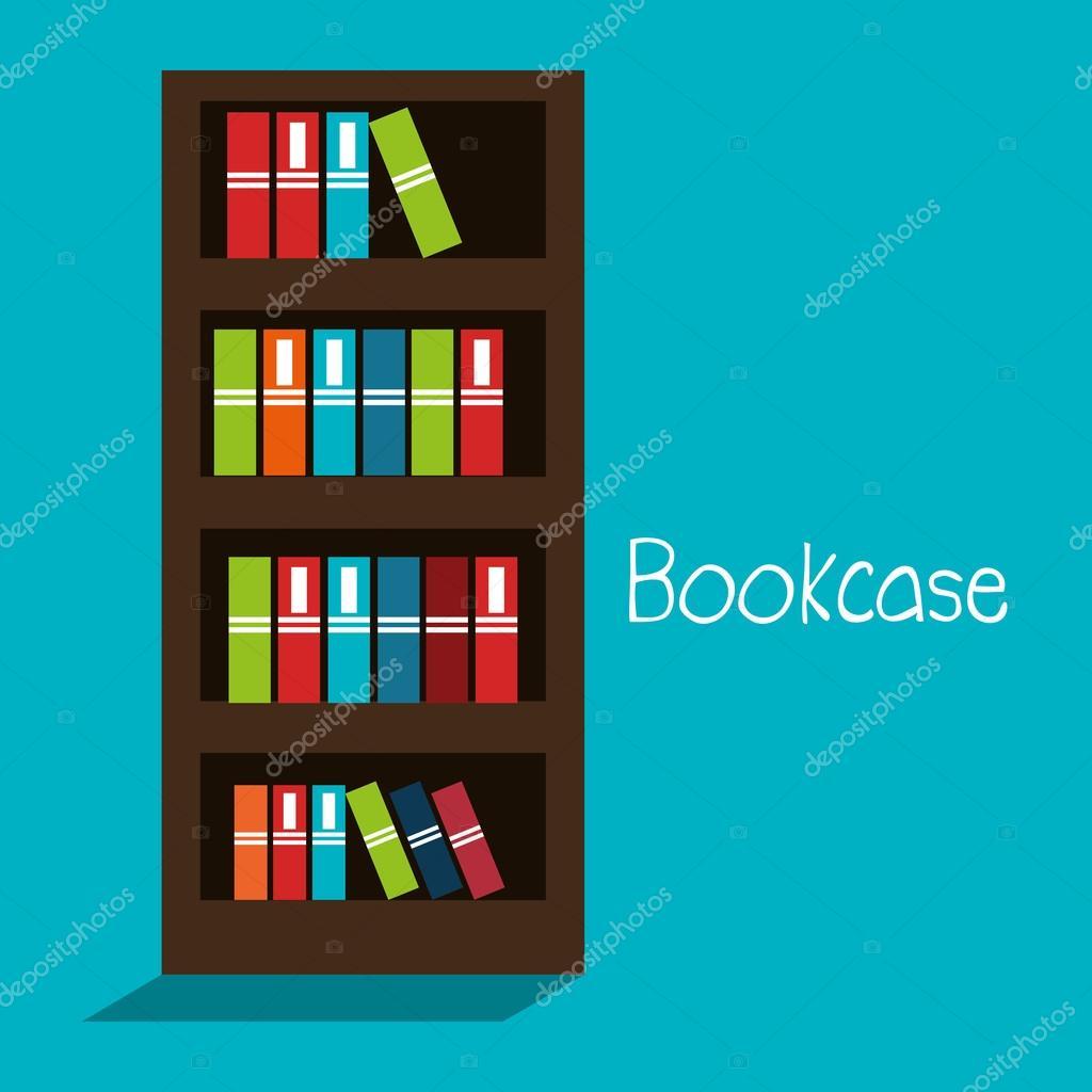 boekenkast gesoleerd ontwerp stockvector