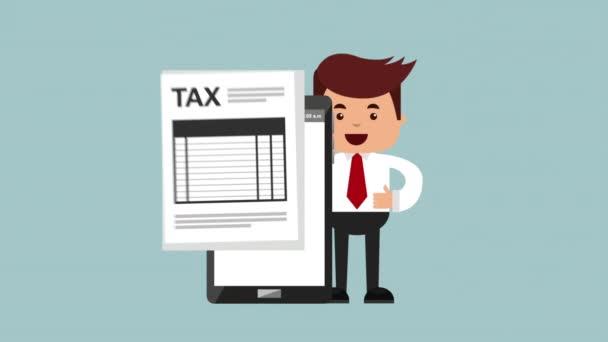 daňové čas animace