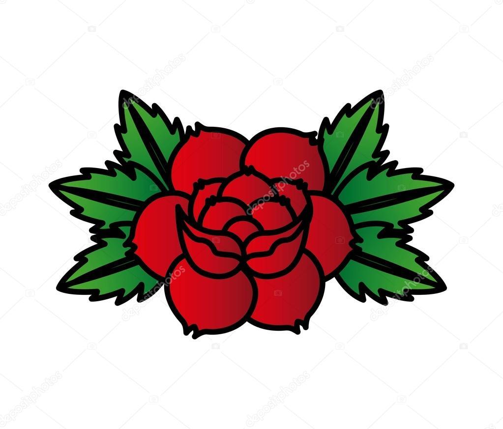 Diseno De Tatuaje De Rosas Archivo Imagenes Vectoriales - Diseos-de-rosas