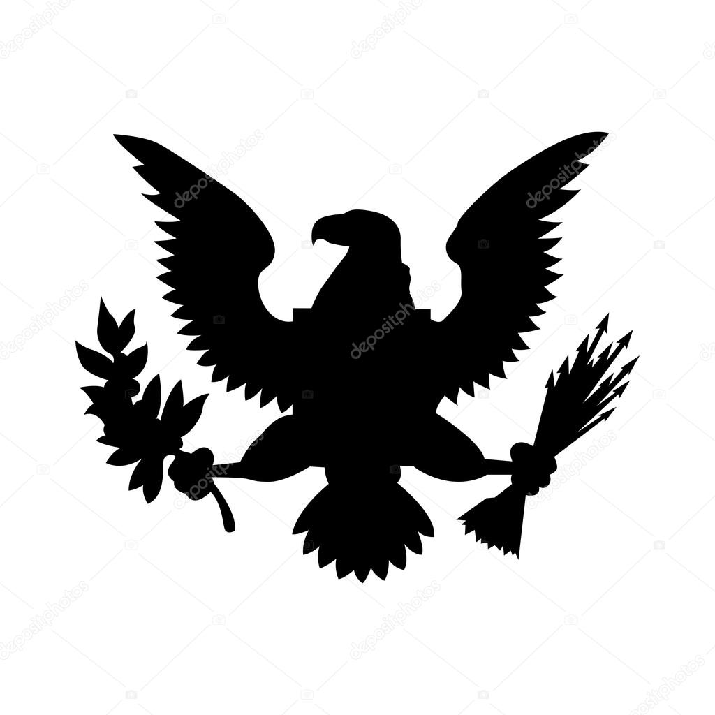 American Eagle Emblem Isolated Icon Design Stock Vector
