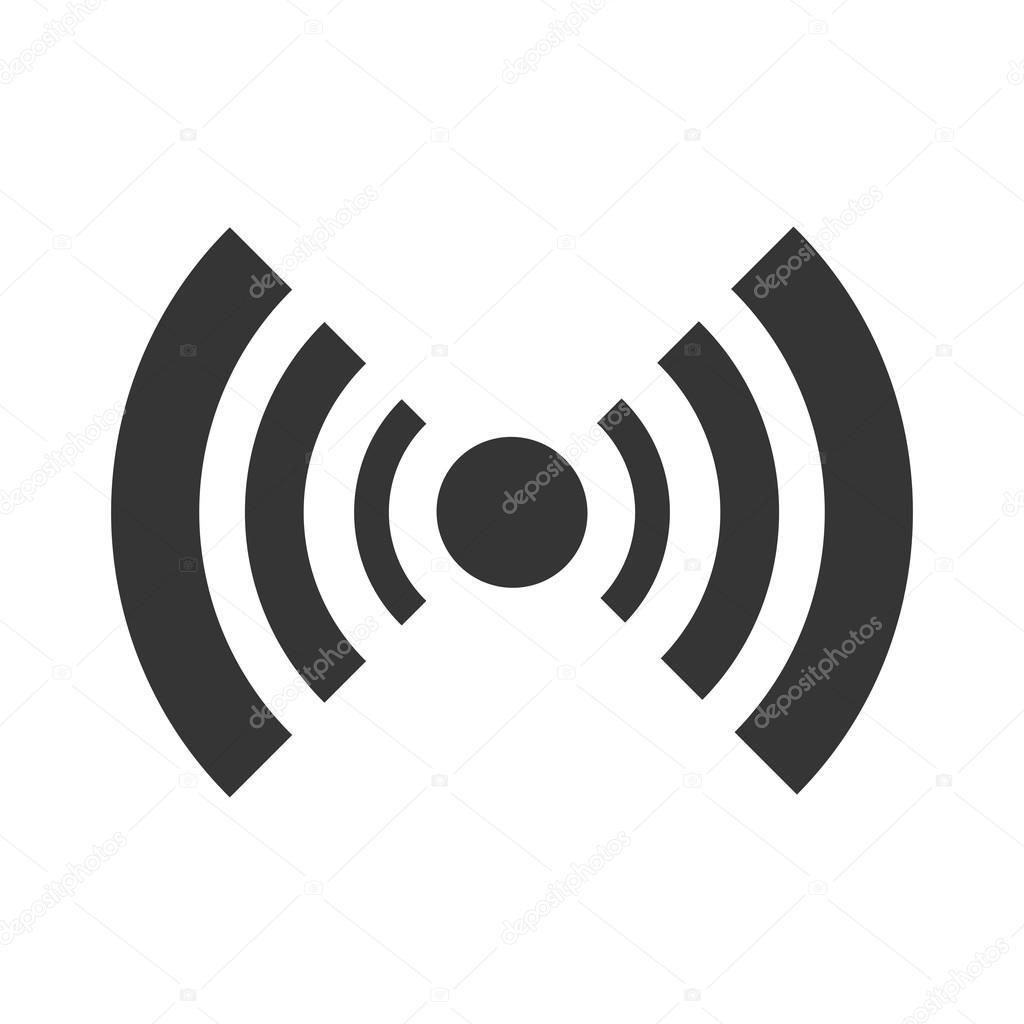 Schwarzen Radar Symbol Mit Streifen Stockvektor Yupiramos 114011310
