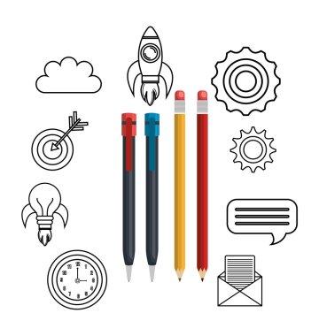 educational elements isolated icon design