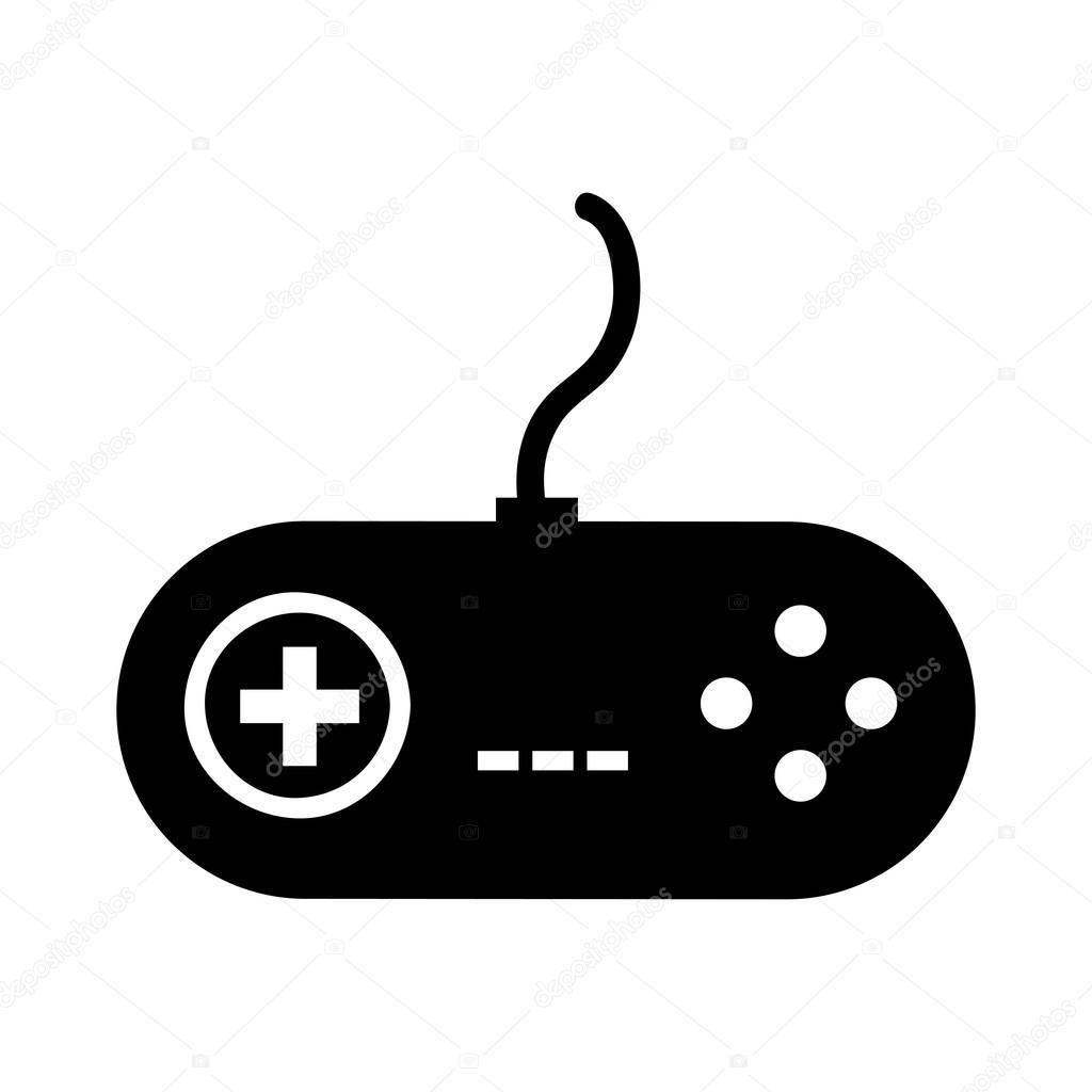 Jeu vid o de contr le isol dessin ic ne image - Dessin de jeux video ...