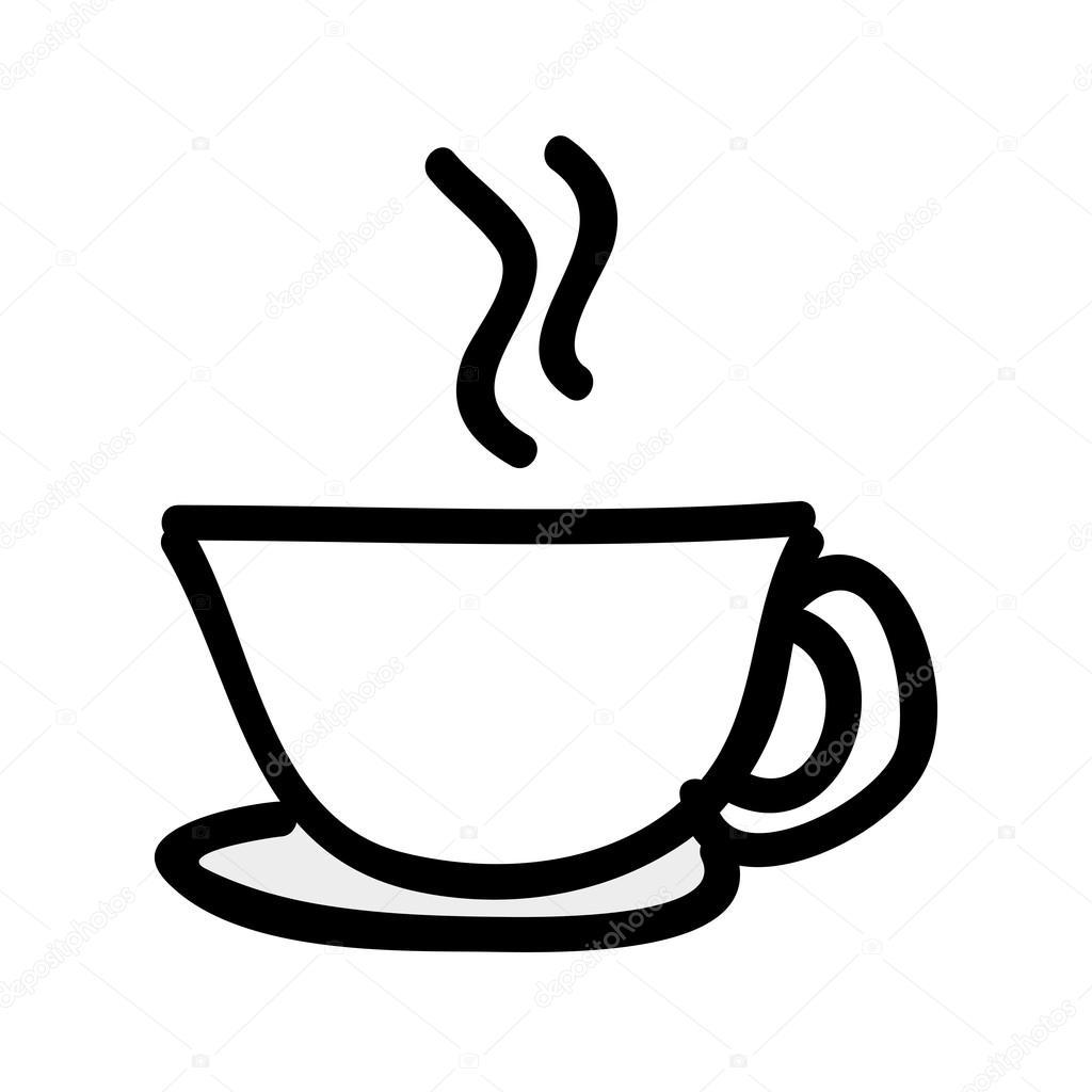 Tazza Di Caffè Isolato Disegno Dellicona Vettoriali Stock