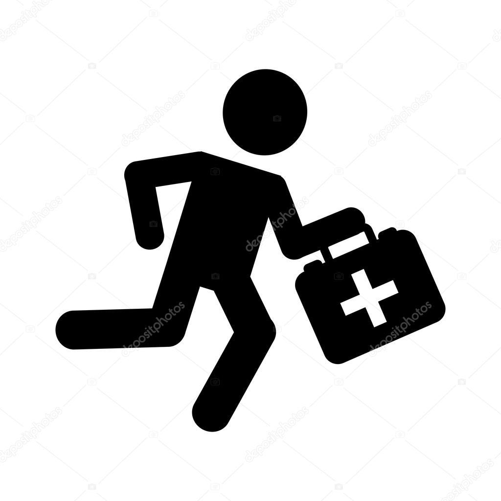 Vector: logo paramedico   diseño de icono aislado corriente