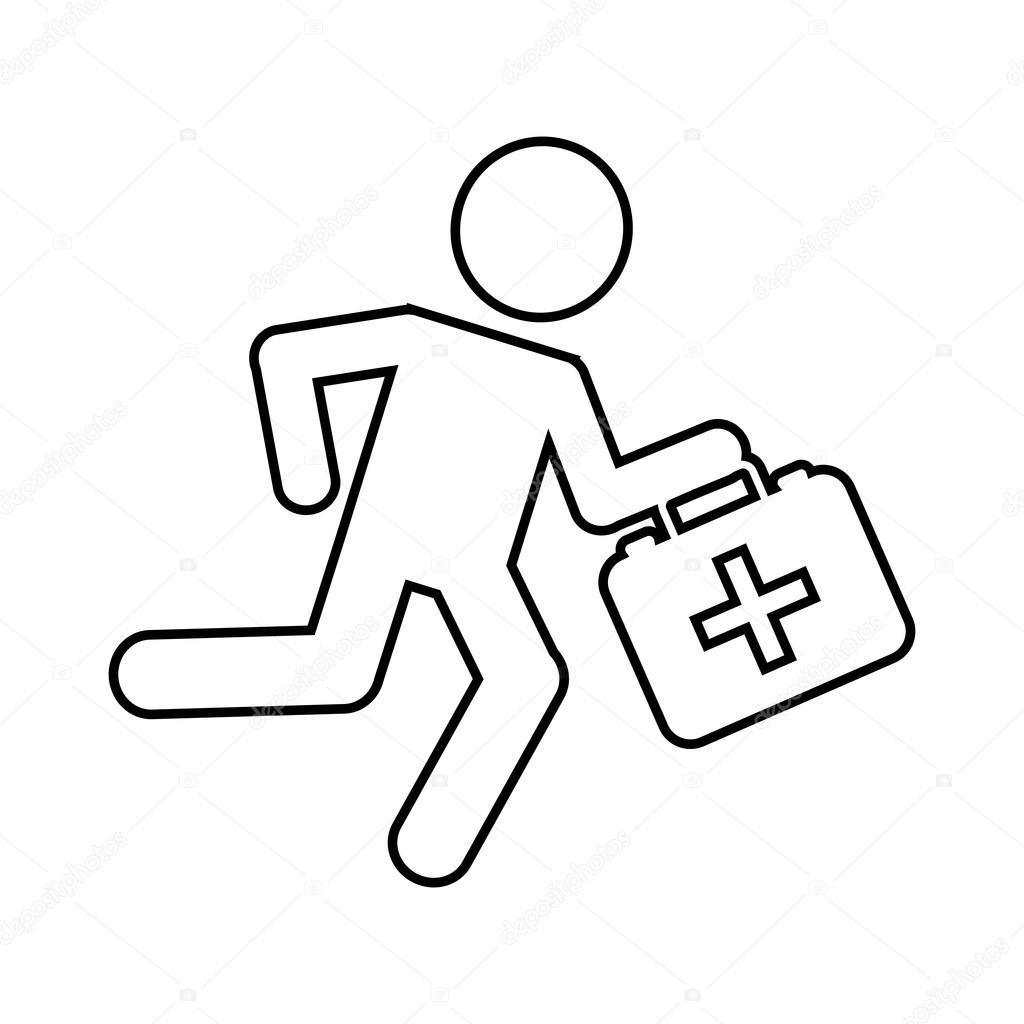 Sanitäter symbol  Sanitäter laufen isoliert Icon-design — Stockvektor © yupiramos ...