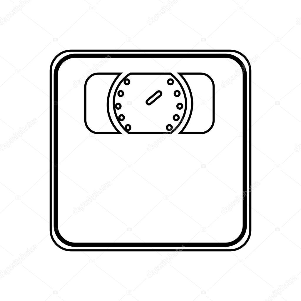 Chelle de mesure de poids isol dessin ic ne image vectorielle yupiramos 114142172 - Dessin de balance ...
