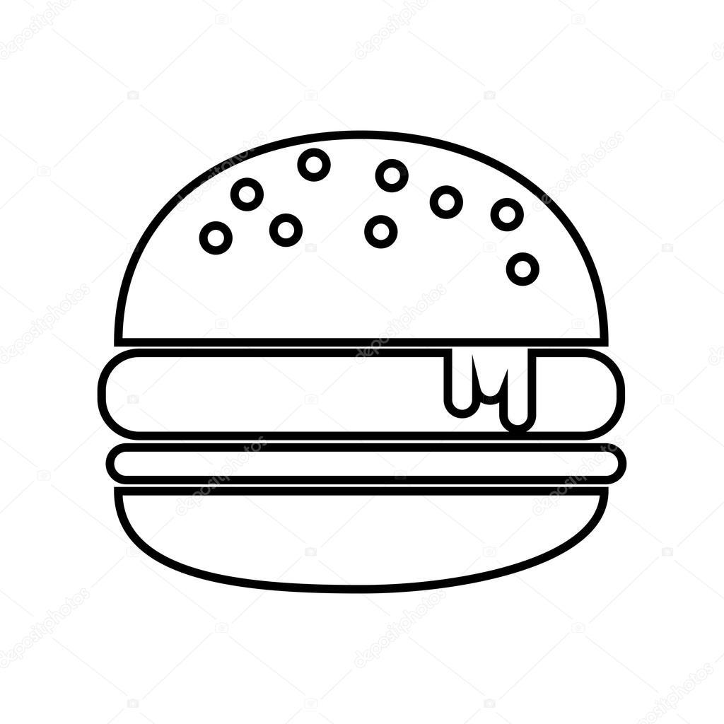 Delicious Hamburger Isolated Icon Design Stock Vector C Yupiramos 114254486